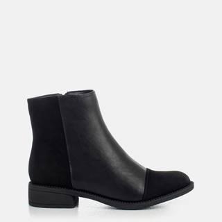 Čierne dámske členkové topánky MUSK