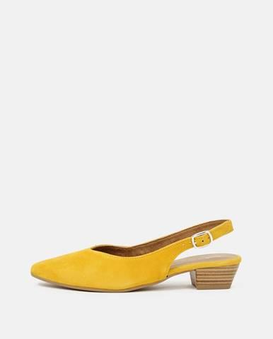 Žlté balerínky Tamaris