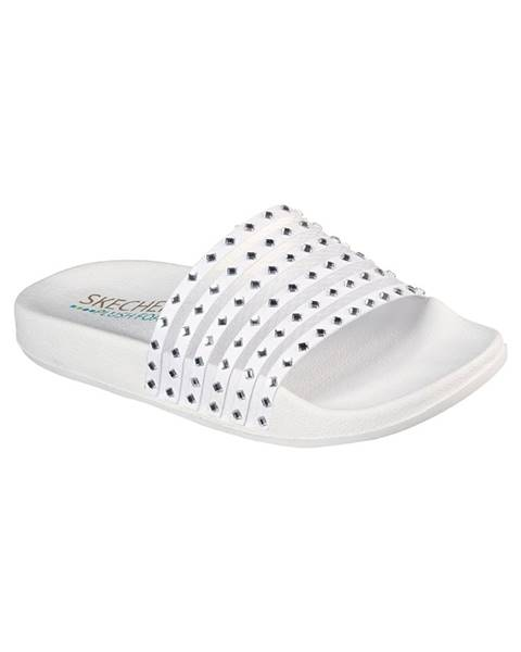 Biele papuče Skechers