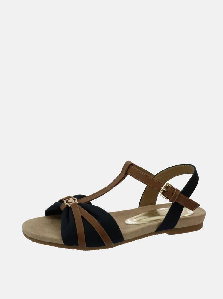 Tom Tailor Hnedo-modré dámske sandále Tom Tailor