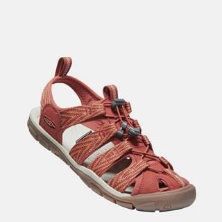 Oranžové dámske vzorované sandále Keen