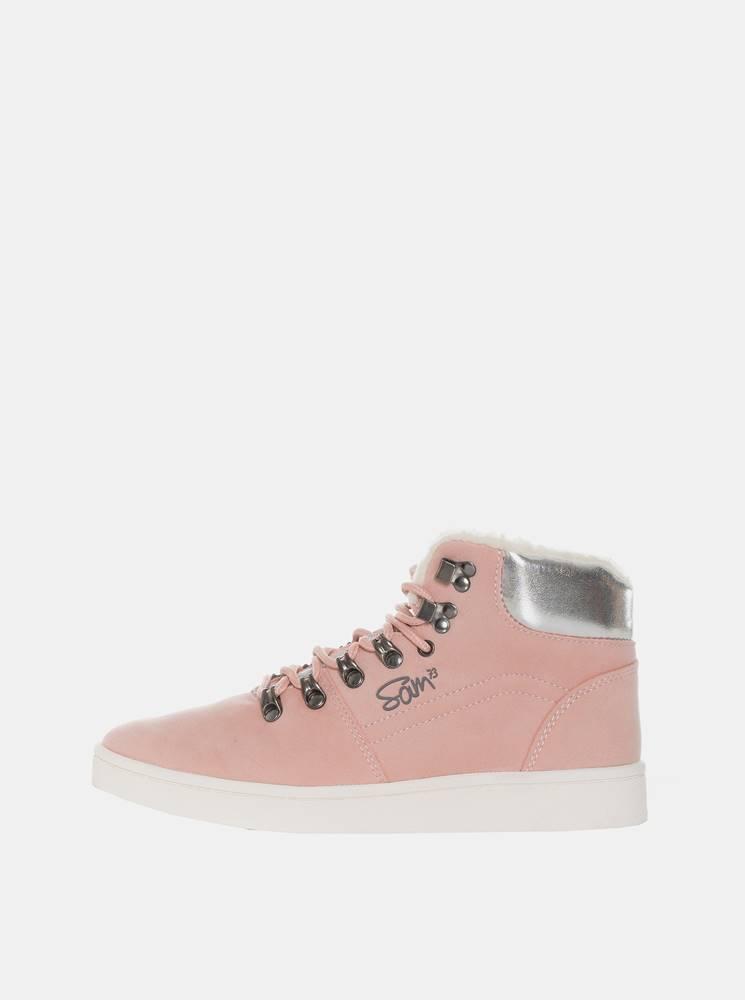 SAM 73 Rúžové dámske zimné členkové topánky SAM 73