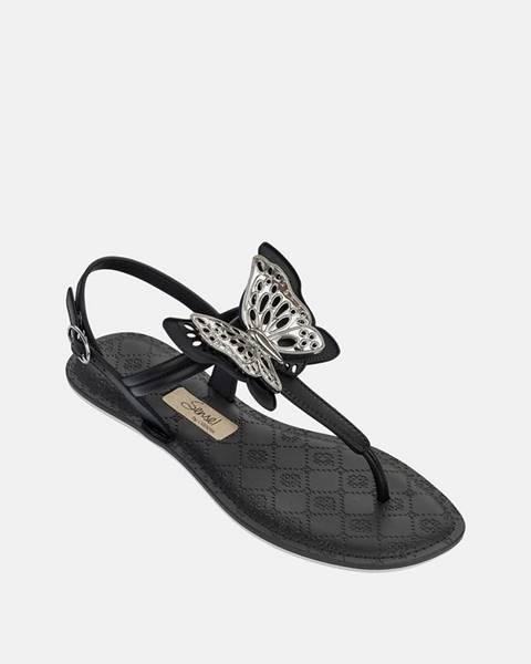 Čierne sandále Grendha