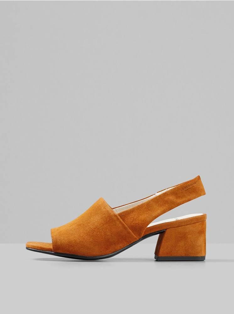 Vagabond Hnedé semišové sandálky Vagabond Elena