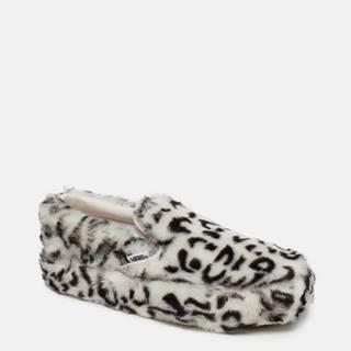 Krémové dámske slip on s leopardím vzorom VANS