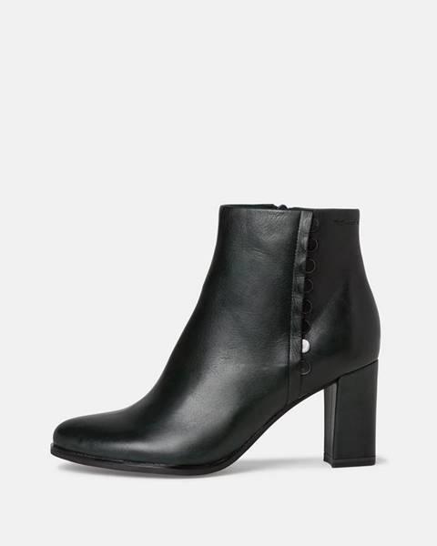 Tmavozelené topánky Tamaris