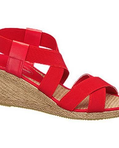 Červené sandále Graceland