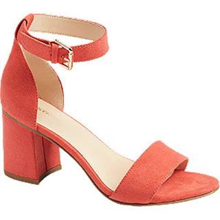 Oranžové sandále na podpätku Graceland