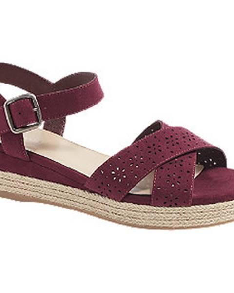 Bordové sandále Graceland