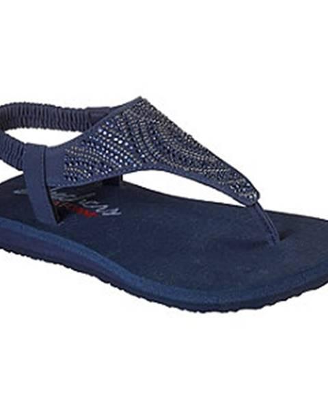 Tmavomodré sandále Skechers