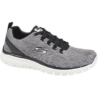 Sivo-čierne tenisky Skechers