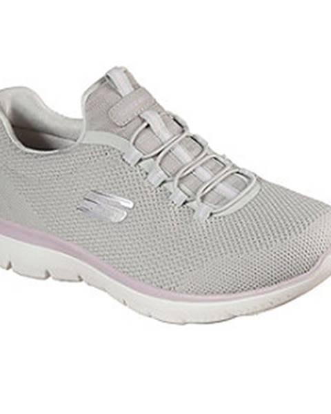 Sivé tenisky Skechers