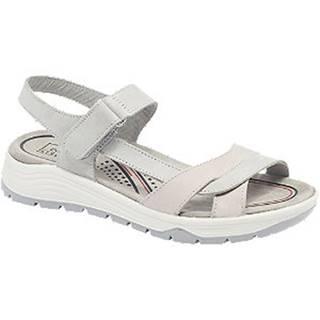 Sivo-ružové  kožené komfortné sandále Easy Street
