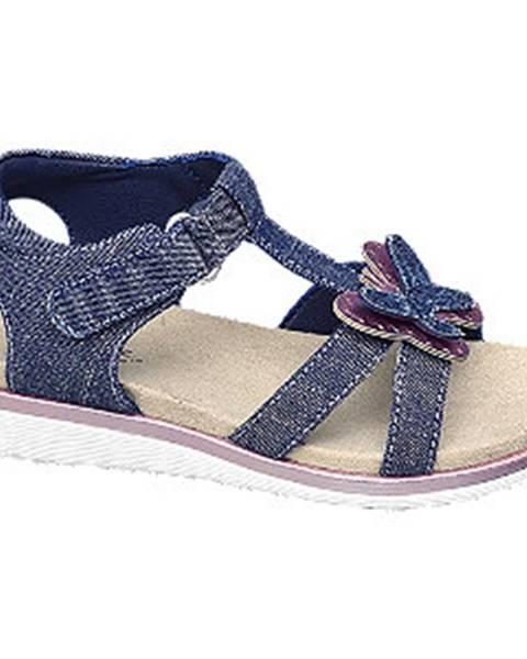 Tmavomodré sandále Cupcake Couture