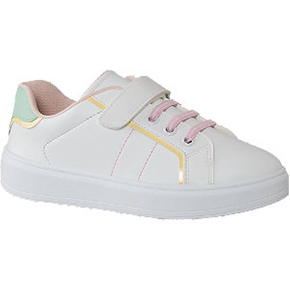 Graceland Biele tenisky na suchý zips Graceland