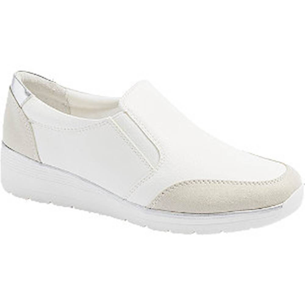 Easy Street Bielo-sivá komfortná slip-on obuv Easy Street