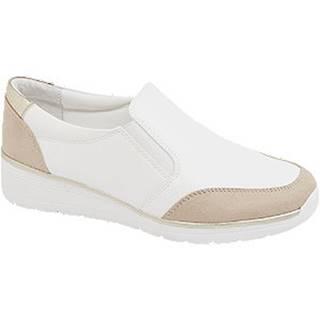 Bielo-béžová komfortná slip-on obuv Easy Street