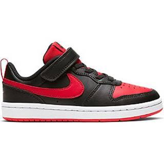 Čierno-červené tenisky na suchý zips Nike Court Borough Low 2