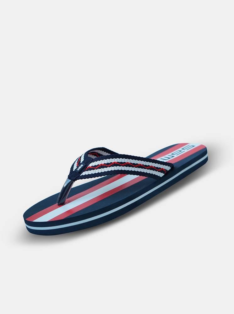 SAM 73 Sandále, papuče pre mužov SAM 73 - modrá, červená