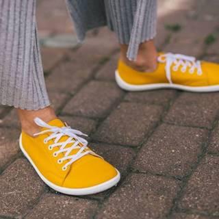 Barefoot tenisky Prime - Mustard 36