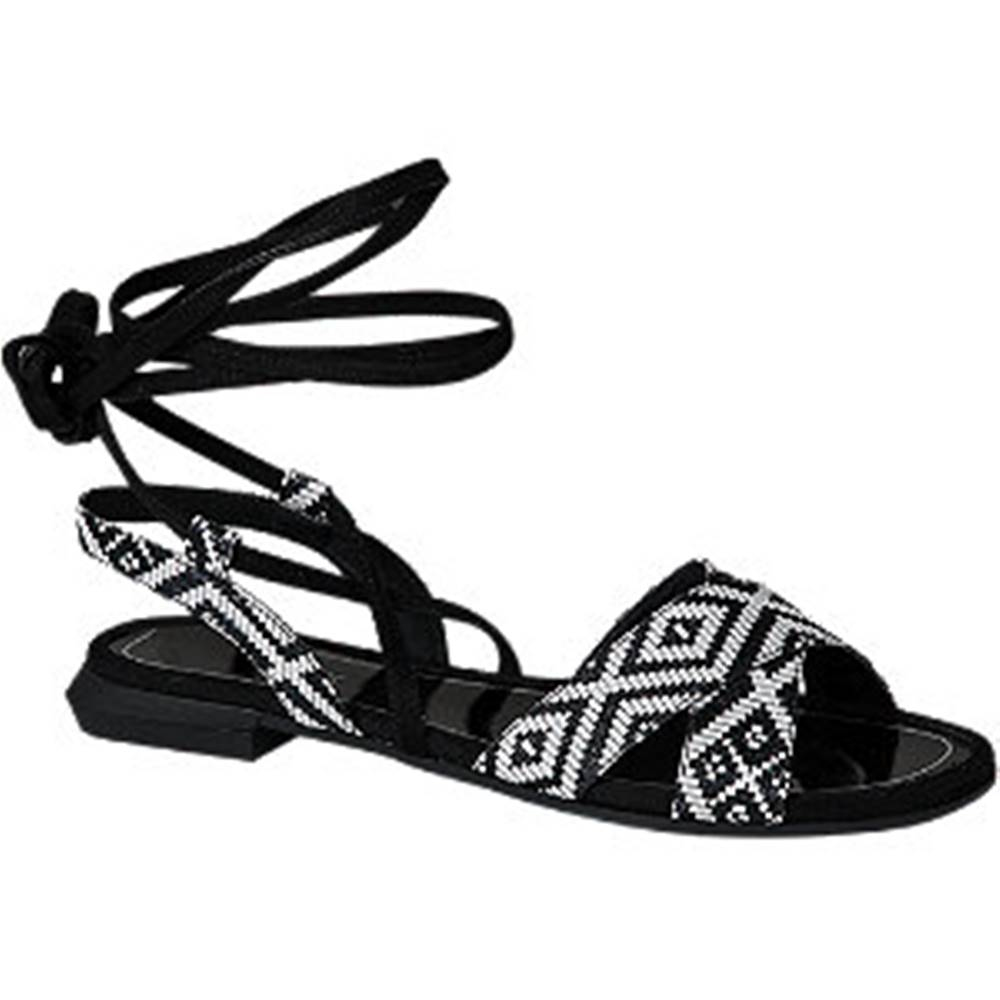 Catwalk Čierno-biele sandále Catwalk