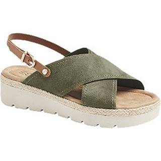Kaki sandále Esprit