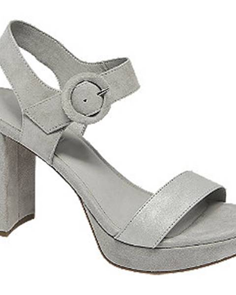 Sivé sandále 5th Avenue