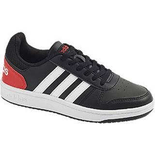 Čierne tenisky Adidas Hoops 2.0 K