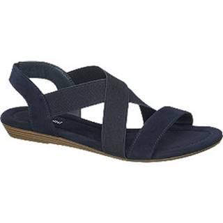 Tmavomodré sandále
