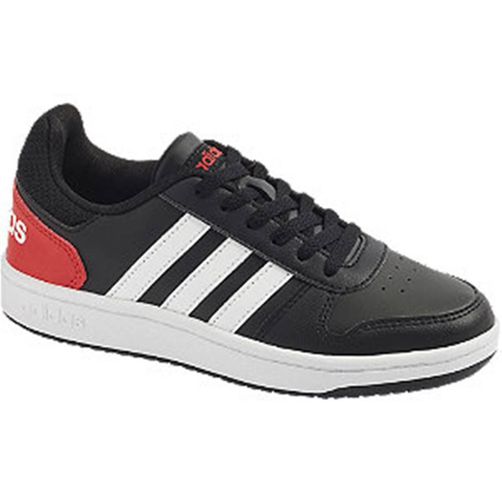 adidas Čierne tenisky Adidas Hoops 2.0 K