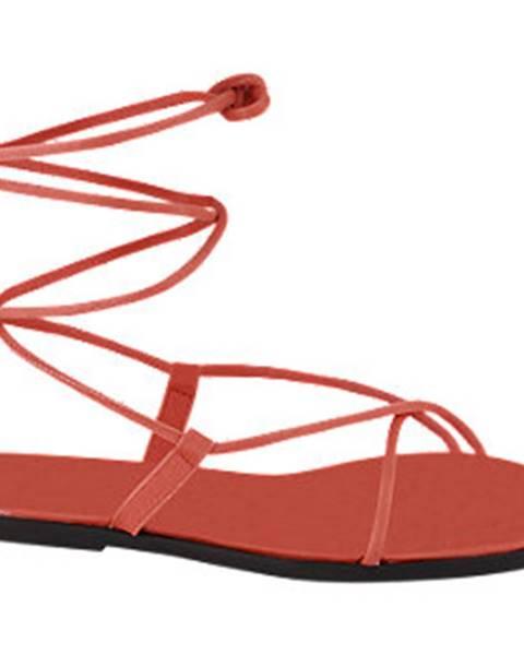 Červené sandále Vero Moda
