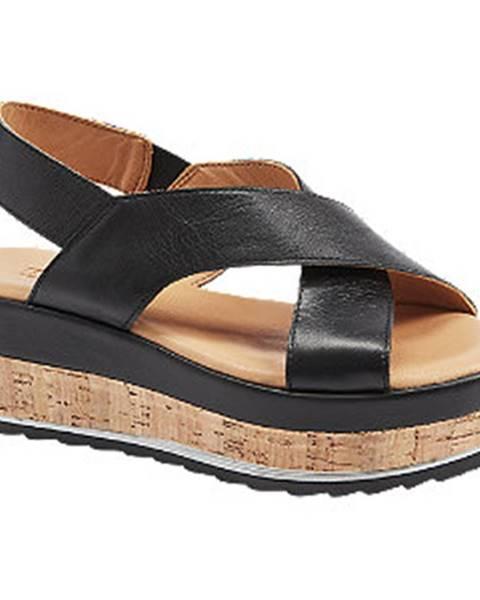 Čierne sandále 5th Avenue