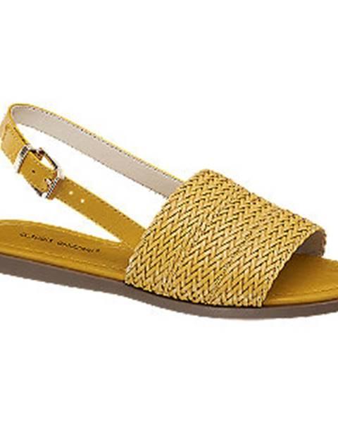 Žlté sandále Claudia Ghizzani