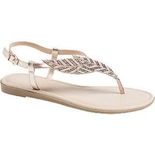 Ružovozlaté sandále Graceland