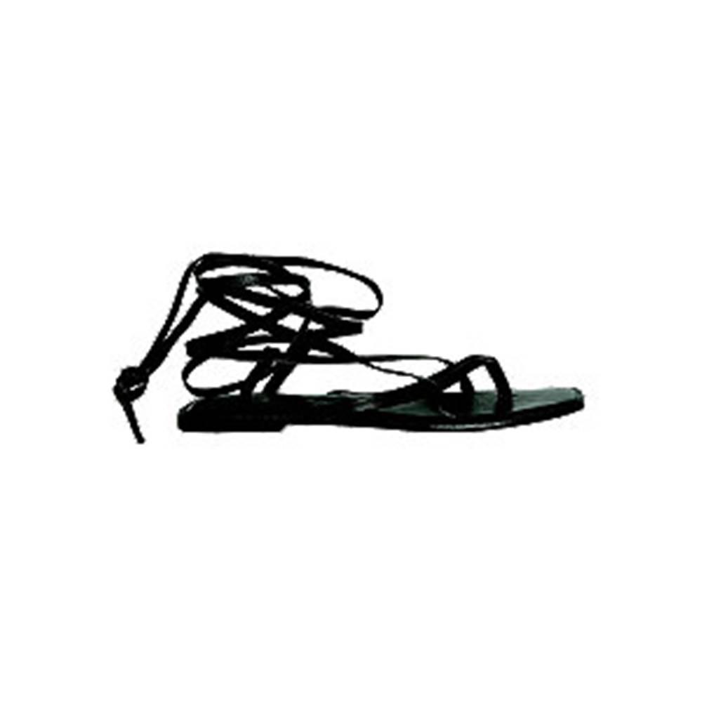 Vero Moda Čierne kožené sandále Vero Moda