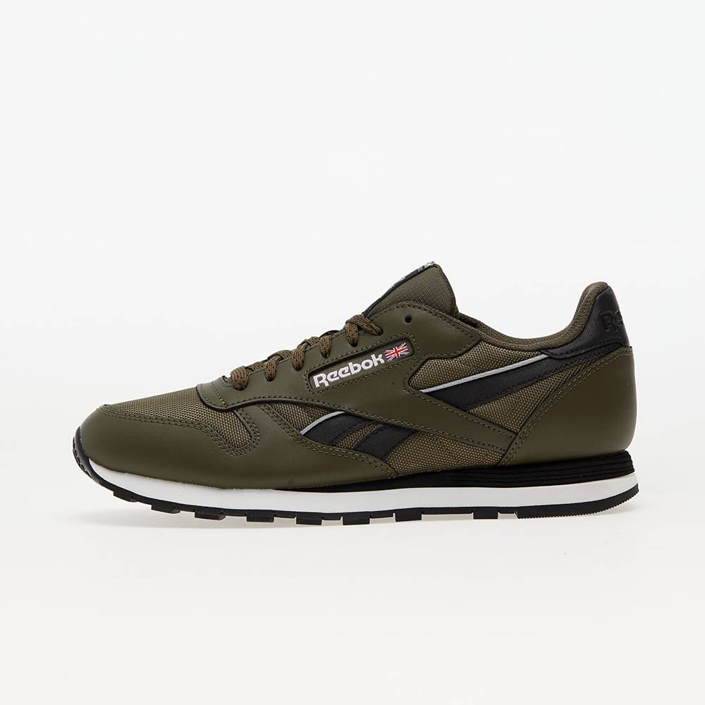 Reebok Classic Leather Army Green/ Core Black/ Ftw White