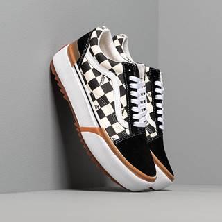Old Skool Stacked (Checkerboard) Black/ True White