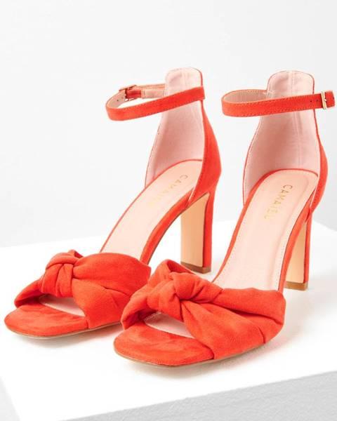 Červené sandále CAMAIEU