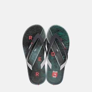 Rider farebné pánske žabky R1 Energy Ad Grey/Green/Orange