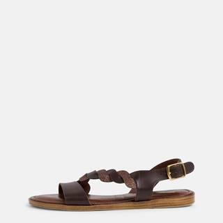 Tmavohnedé kožené sandále