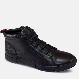 čierne pánske topánky Black Unique