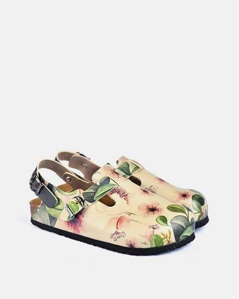 Fialové sandále calceo