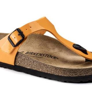 Topánky Birkenstock Gizeh BS Patent Marygold Regular