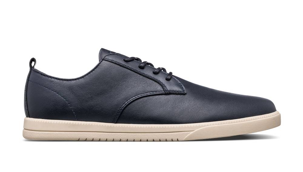 Clae Topánky  Ellington Navy Milled Leather