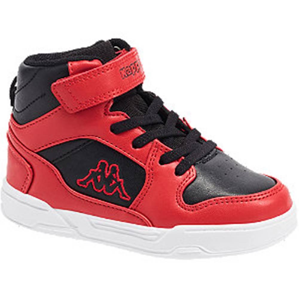 Kappa Červeno-čierne členkové tenisky na suchý zips  Lineup K