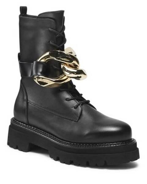 Čierne topánky Badura
