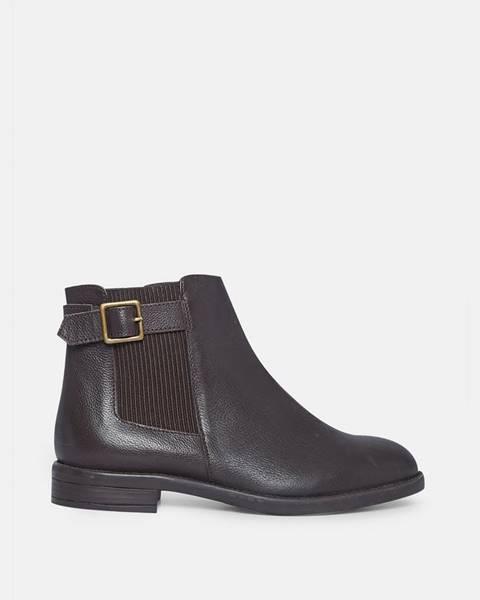 Tmavohnedé topánky Dorothy Perkins