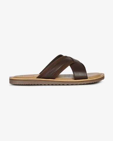 Hnedé papuče Geox