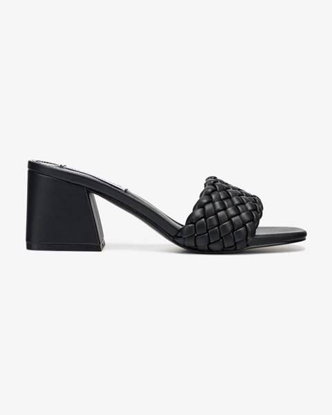 Čierne papuče Steve Madden