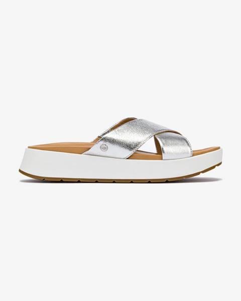 Strieborné papuče UGG